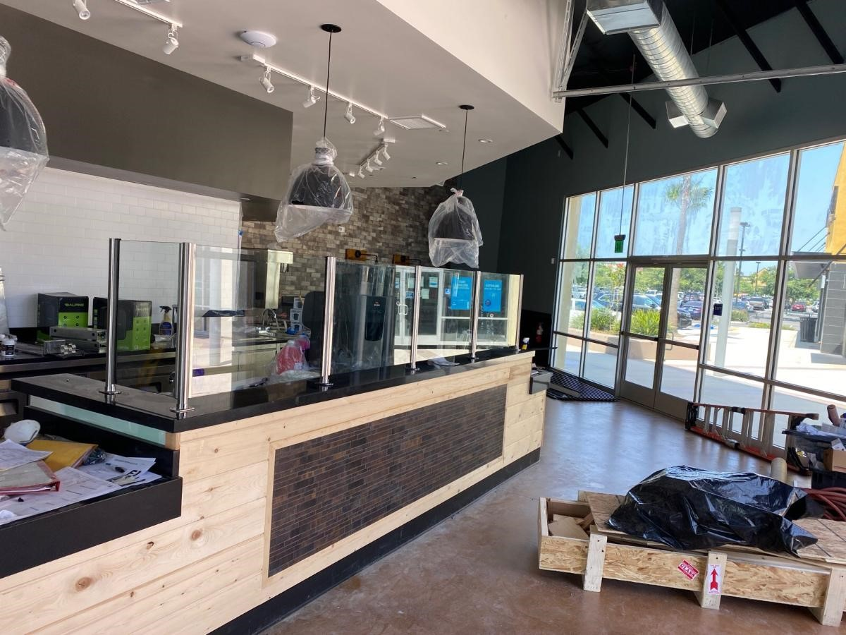 Front Counter Wood Cladding