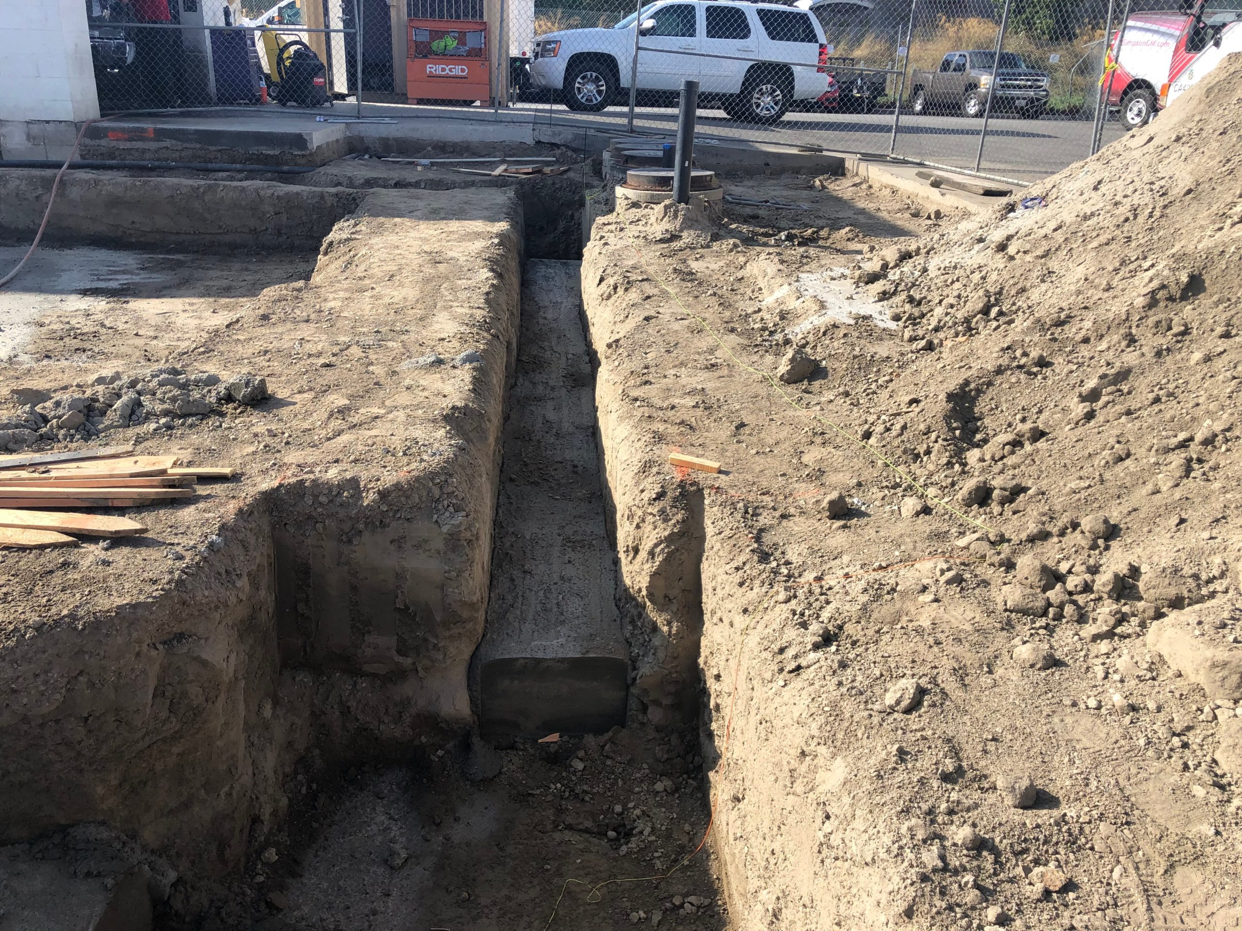 progress pictures 12 inch footing